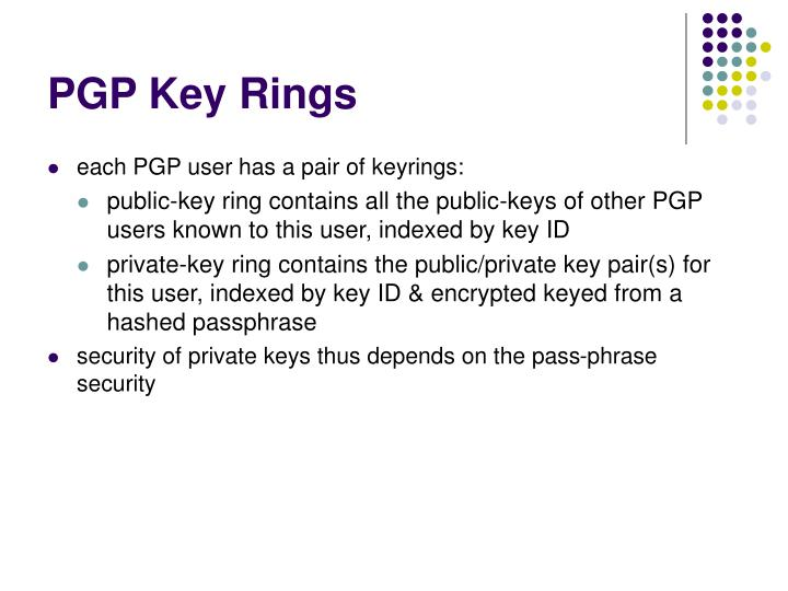 PGP Key Rings