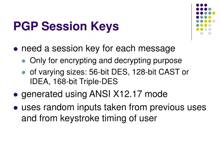 PGP Session Keys