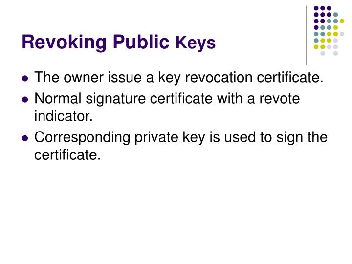 Revoking Public
