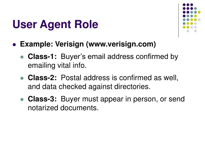 User Agent Role