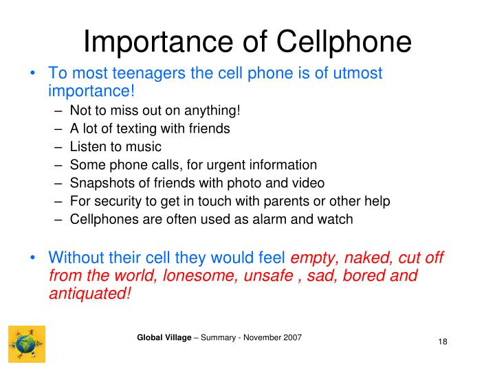 Importance of Cellphone