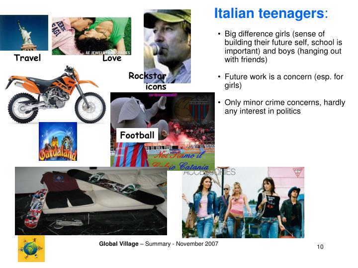Italian teenagers