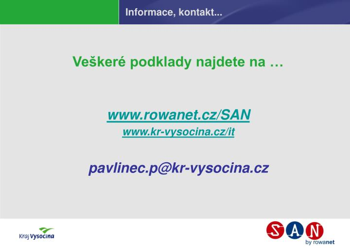 Informace, kontakt...