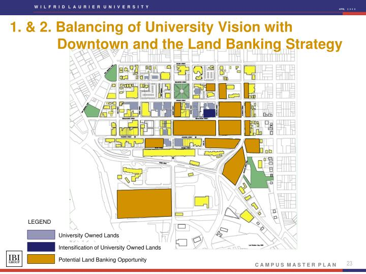 1. & 2. Balancing of University Vision with