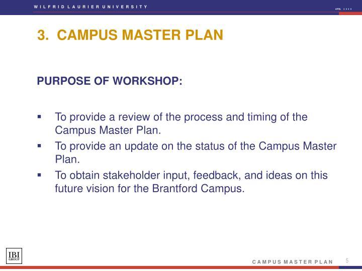 3.  CAMPUS MASTER PLAN