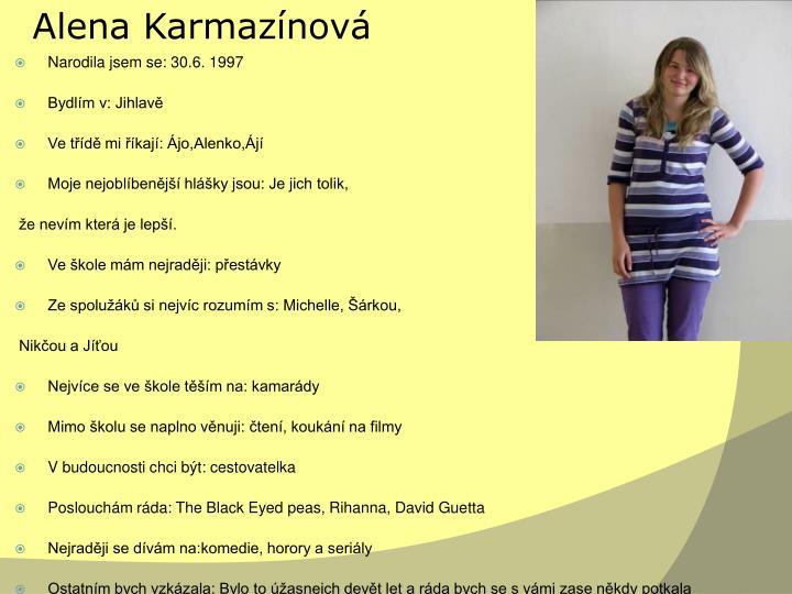Alena Karmazínová