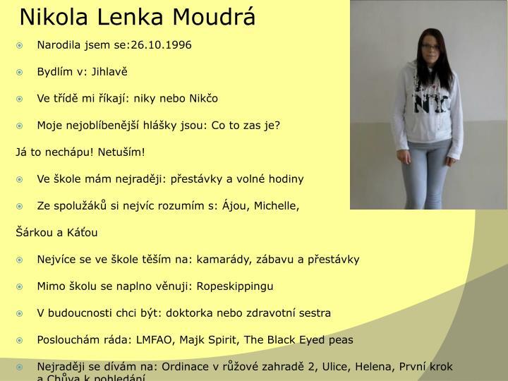 Nikola Lenka Moudrá