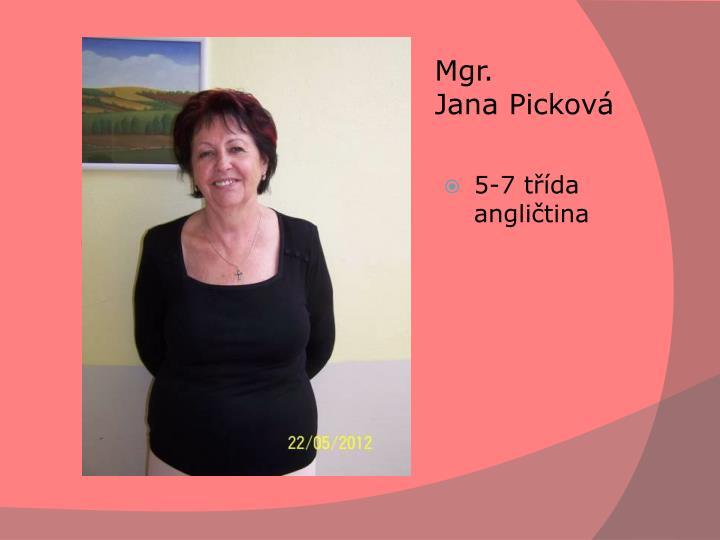 Mgr. JanaPicková