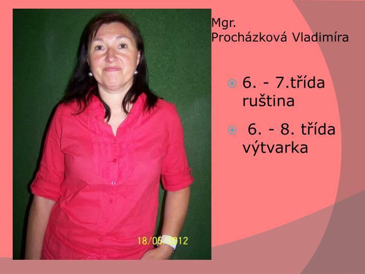 Mgr. ProcházkováVladimíra