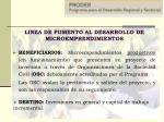 linea de fomento al desarrollo de microemprendimientos