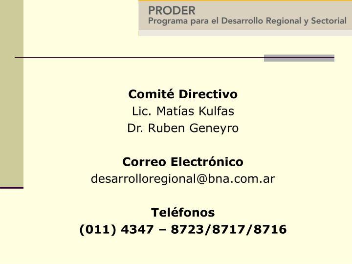 Comité Directivo