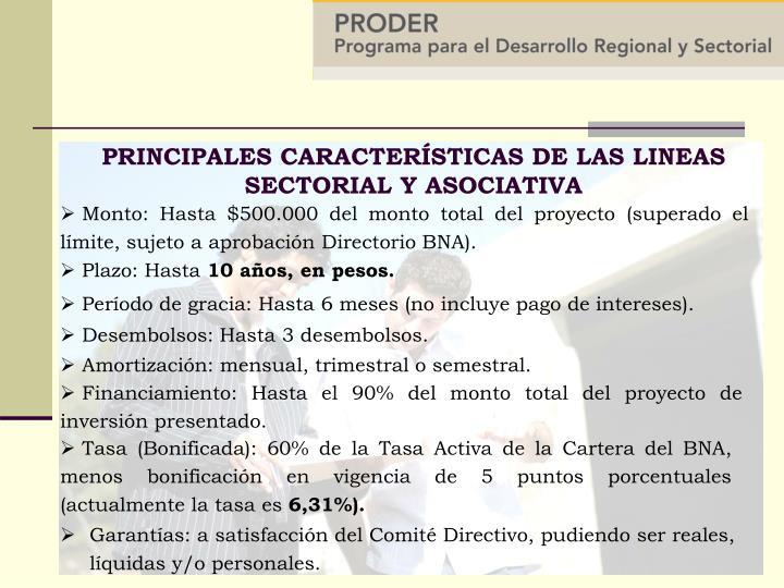 Garantías: a satisfacción del Comité Directivo, pudiendo ser reales, líquidas y/o personales.