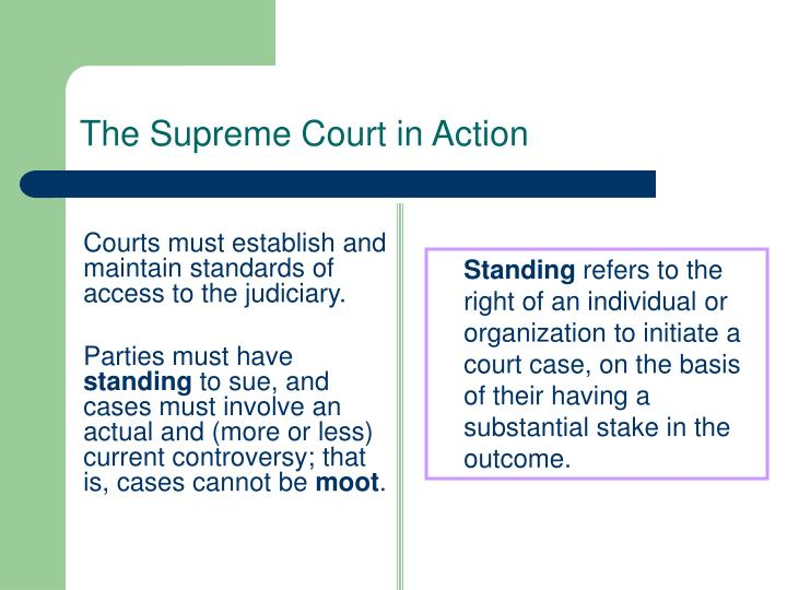 Courts must establish and maintain standards of access to the judiciary.