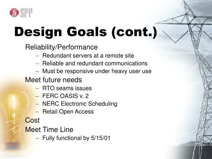 Design Goals (cont.)