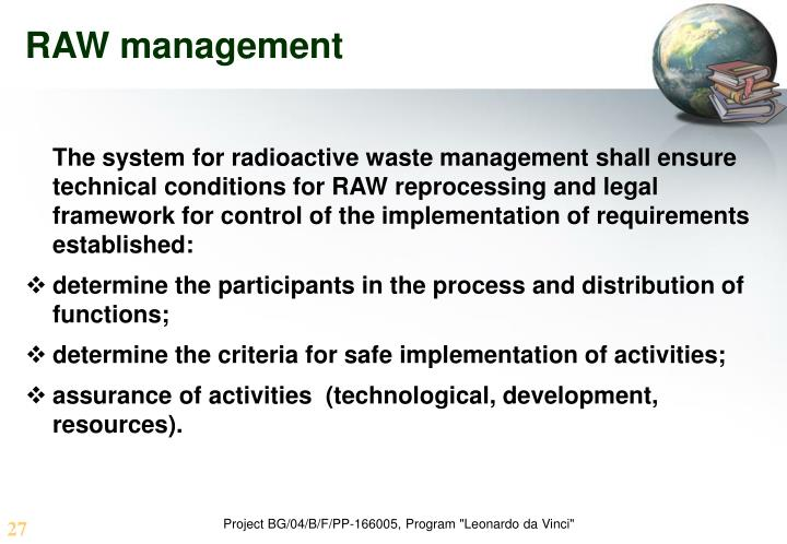 RAW management