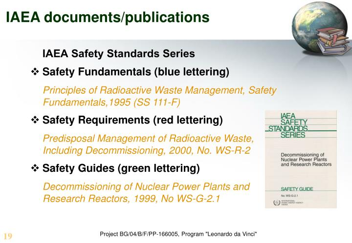 IAEA documents/publications