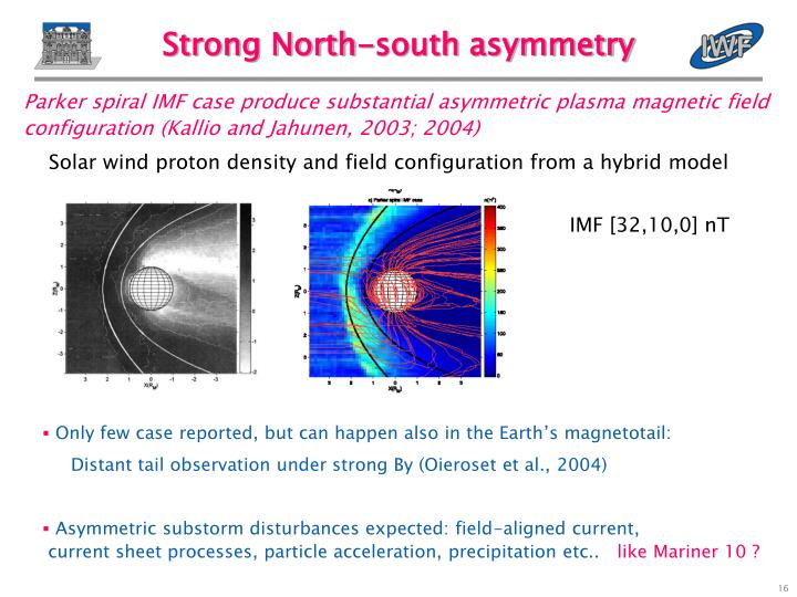 Strong North-south asymmetry