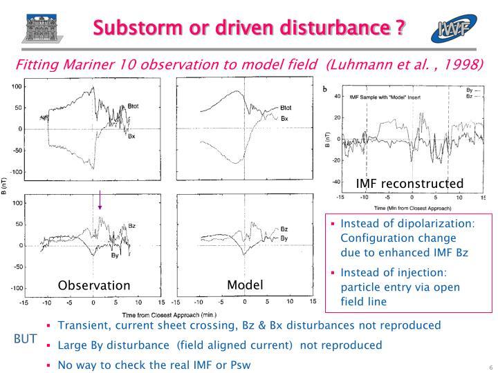 Substorm or driven disturbance ?