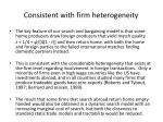consistent with firm heterogeneity