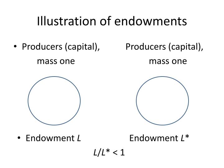 Illustration of endowments