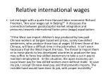 relative international wages