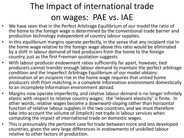 The Impact of international trade