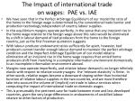 the impact of international trade on wages pae vs iae