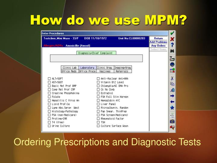 How do we use MPM?