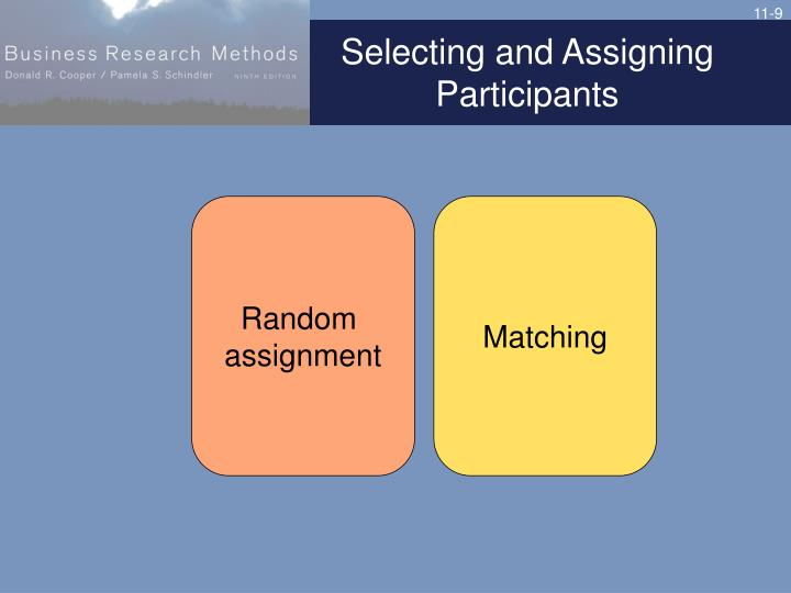 Selecting and Assigning Participants