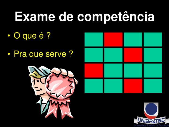 Exame de competência