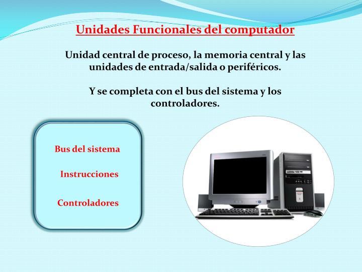 Unidades Funcionales del computador