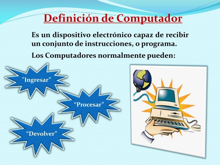 Definición de Computador
