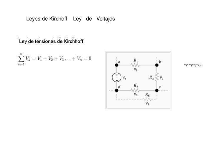 Leyes de Kirchoff:   Ley   de   Voltajes