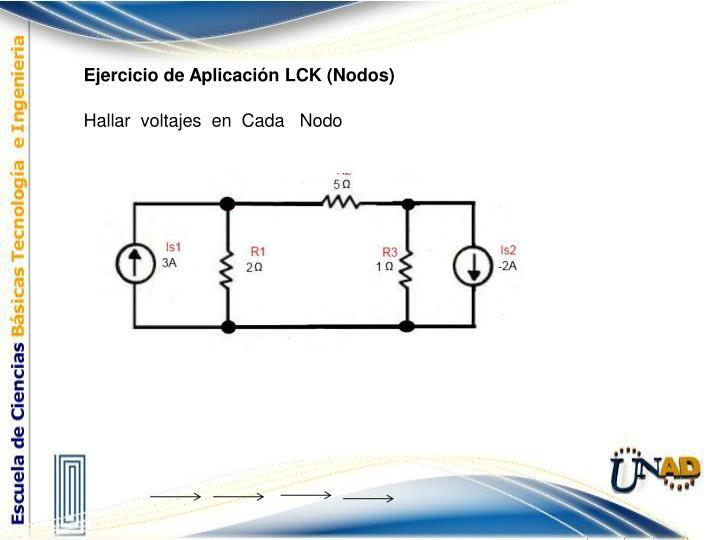 Ejercicio de Aplicación LCK (Nodos)