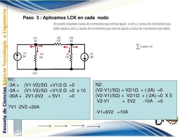 Paso  3 : Aplicamos LCK en cada  nodo