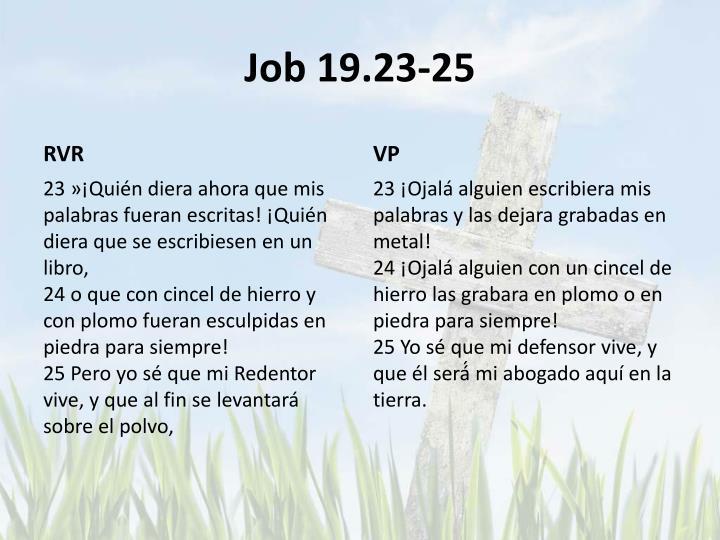 Job 19.23-25