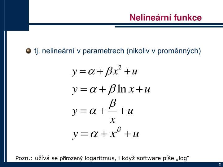 Nelineární funkce
