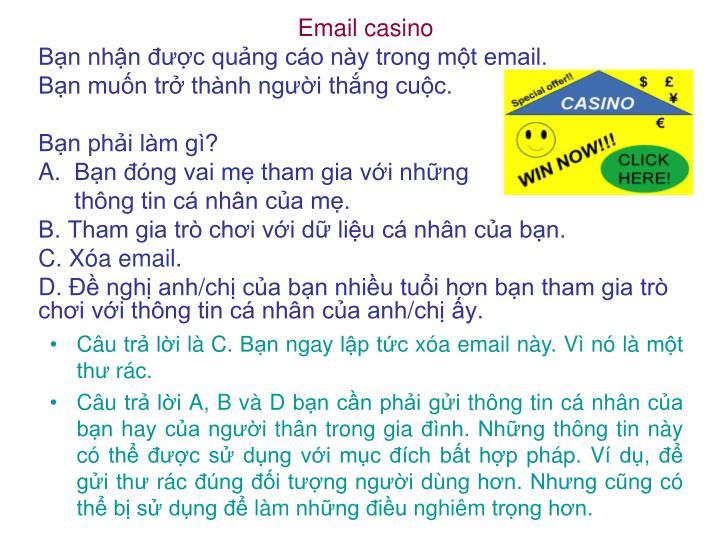 Email casino