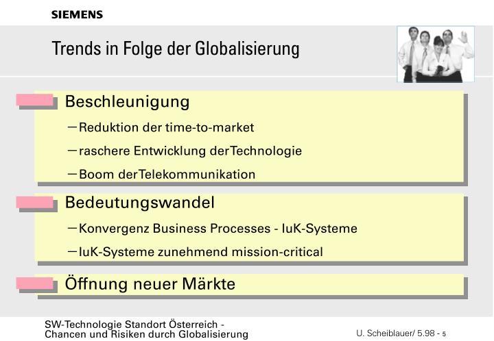 Trends in Folge der Globalisierung