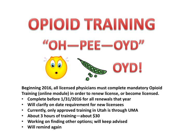 OPIOID TRAINING