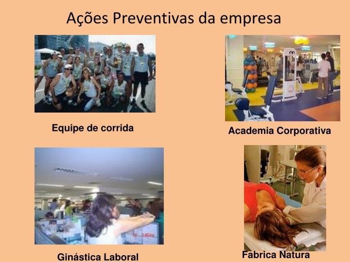 Ações Preventivas da empresa