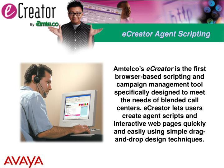 eCreator Agent Scripting