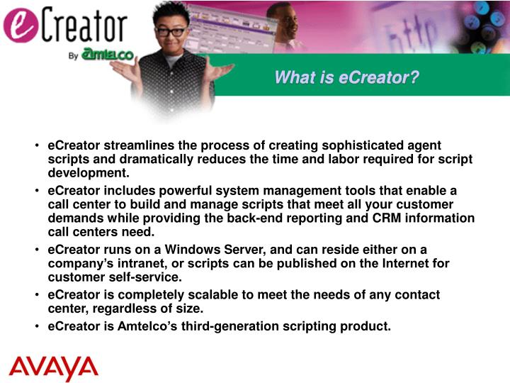 What is eCreator?