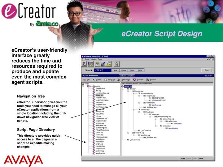 eCreator Script Design