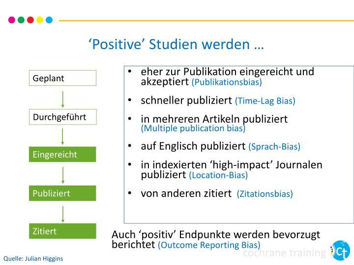 'Positive' Studien werden