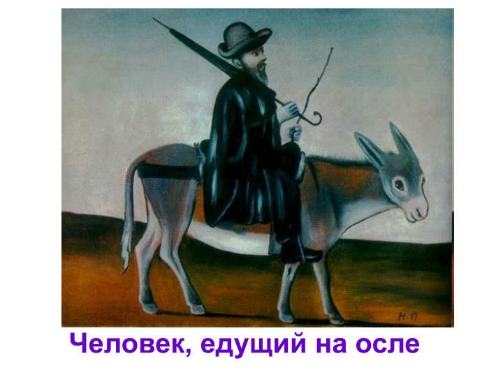Человек, едущий на осле