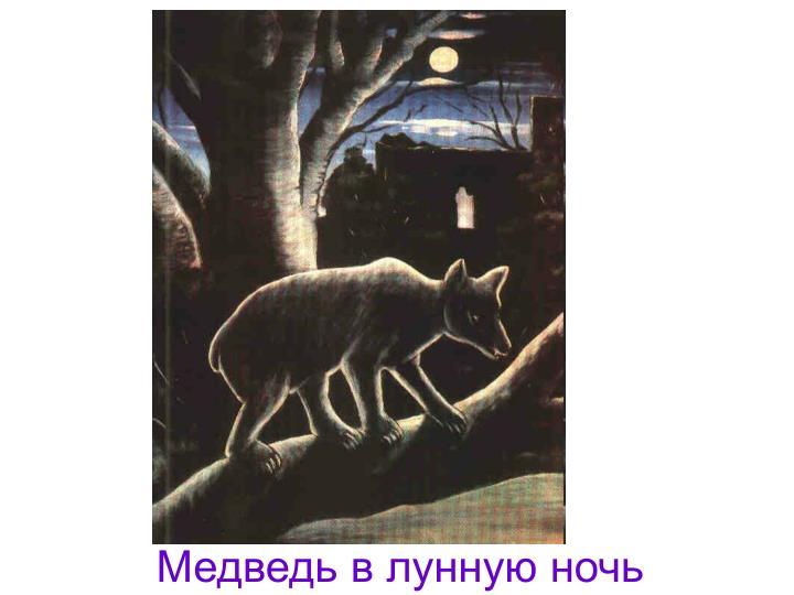 Медведь в лунную ночь