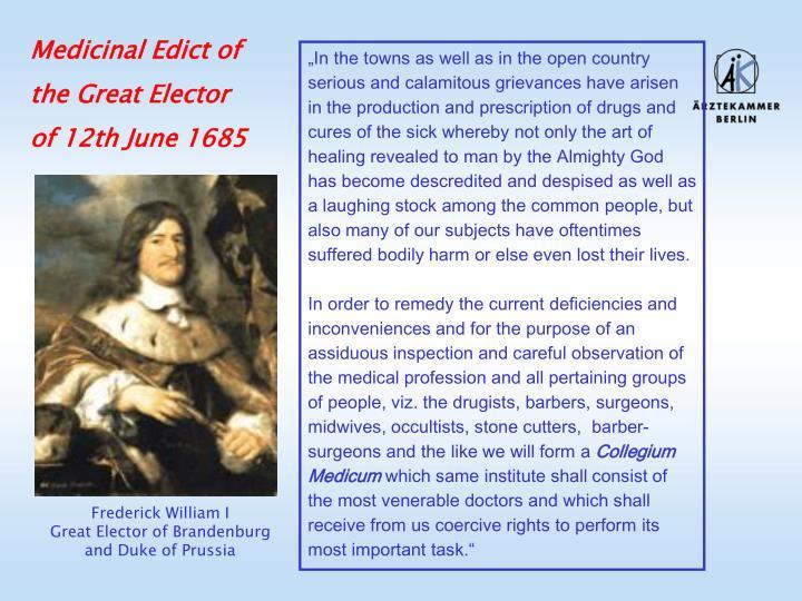 Medicinal Edict of