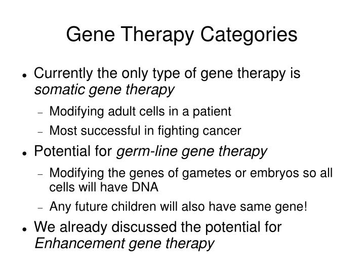 Gene Therapy Categories