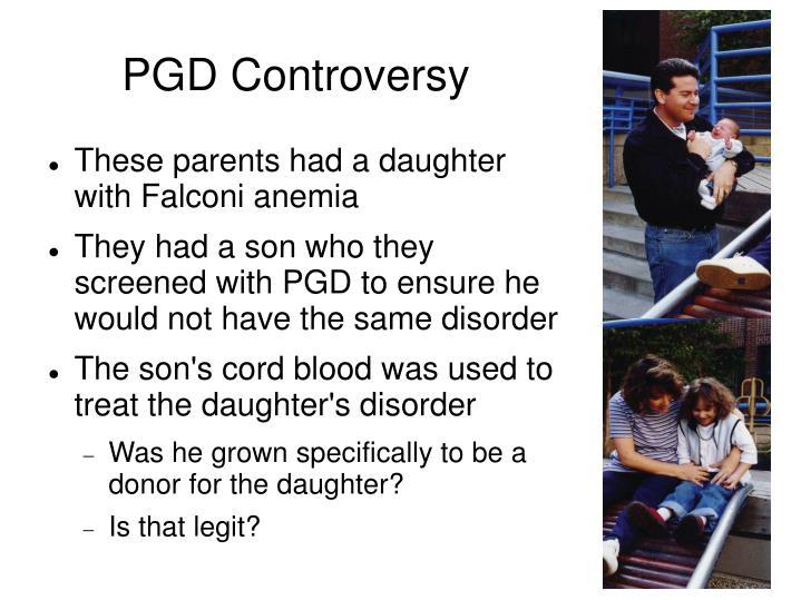 PGD Controversy